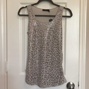 NWT The Limited Leopard Sequin Tank